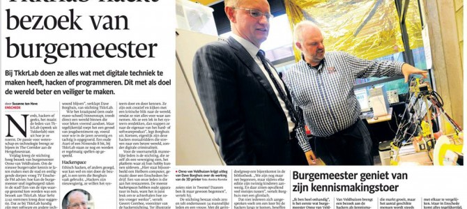 Bezoek Burgemeester Enschede